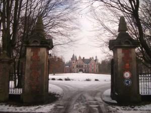 Kobylniki pałac wjazd
